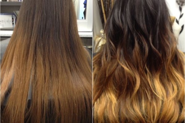 Ombre-hair-before-and-after